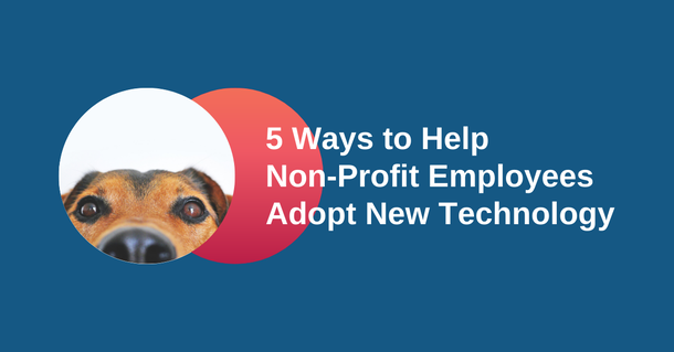 5 ways to help non-profit employees adopt new technology.